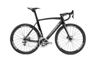 Eddy Merckx 525 Endurance Disc Shimano STI equipped Carbon Bicycle, Black Anthracite & Silver Satin - Build It Your Way
