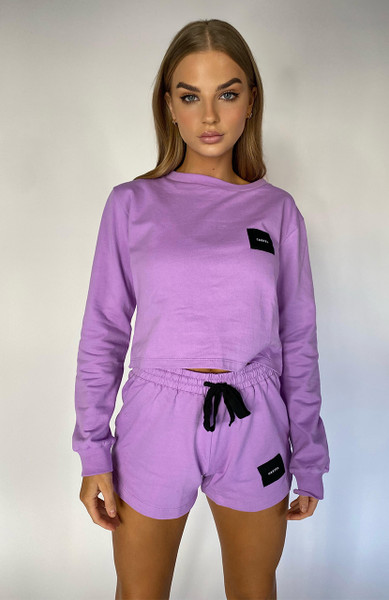 Cartel Badge Logo Long Sleeve - Lavender
