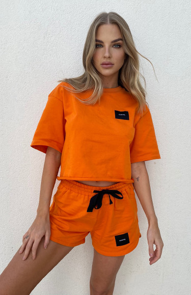 Cartel Badge Logo Top - Tangerine