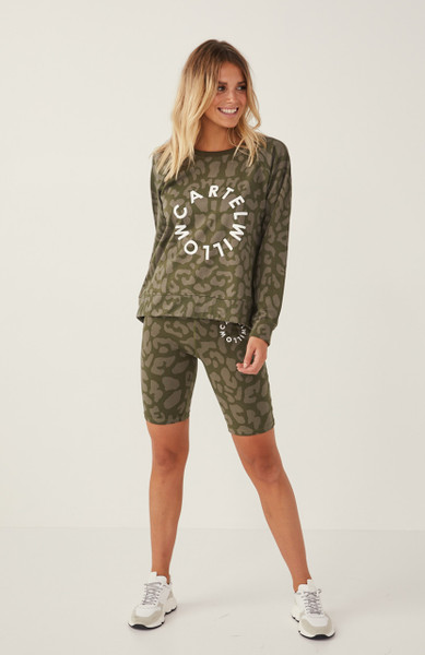 Luna Bike Short - Khaki Leopard