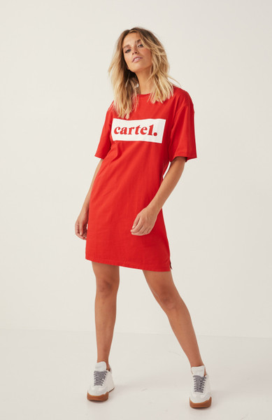 Sailor Tee Dress - Red