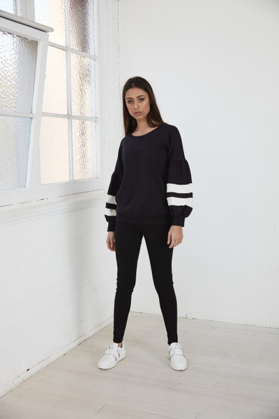 Kirby Bell Sleeve Jumper - Black