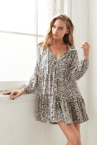 Cali Shirt Dress - Zulu Leopard