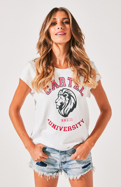 University Sweat Tee - White