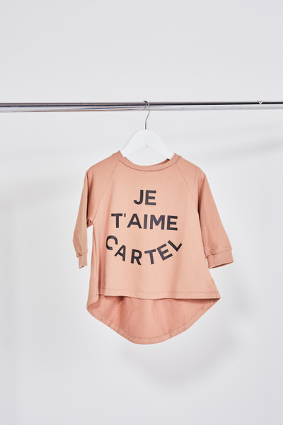 KIDS JE TAIME SWEATER - BLUSH