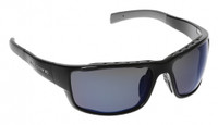 Native Eyewear Polarized Sunglasses: Cable in Iron & Blue Reflex