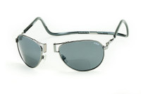 Clic Aviator XXL in Gun Metal Polarized Bi-Focal Reading Sunglasses