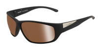 Bollé™™ Marine Sunglasses: Keel in Matte-Black with Polarized Inland Gold
