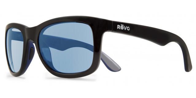 c6be0cb1bc4 REVO Designer Sunglasses Huddie in Matte Black   Blue Mirror ...