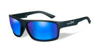 Wiley-X™ Peak in Matte-Black & Polarized Blue Mirror Lens
