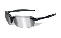 Wiley-X™ Tobi in Gloss-Black & Polarized Silver Flash Lens
