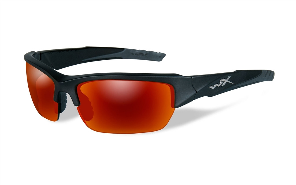 3016b4a3a4a Wiley-X™ Valor in Two-Toned Black   Polarized Crimson Mirror Lens ...