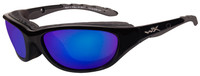Wiley-X™ AirRage in Gloss Black & Polarized Blue Mirror