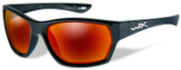 Wiley-X™ Moxy in Gloss Black & Polarized Crimson Mirror