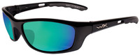 Wiley-X™ P-17 in Gloss Black & Polarized Emerald