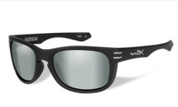 Wiley-X™ High Performance Eyewear Hudson Sunglasses in Matte-Black with Polarized Green Flash Lens (ACHUD05)