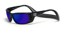Hoven Eyewear Meal Ticket in Black & Tahoe Blue Mirror Polarized