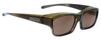 Jonathan Paul® Fitovers Eyewear Kids Extra-Small Coolaroo in Olive-Charcoal & Amber CL003A