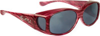 Jonathan Paul® Fitovers Eyewear Kids Extra-Small Glides in Red-Licorice & Gray G012S