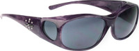 Jonathan Paul® Fitovers Eyewear Medium Element in Purple-Haze & Gray EM006S