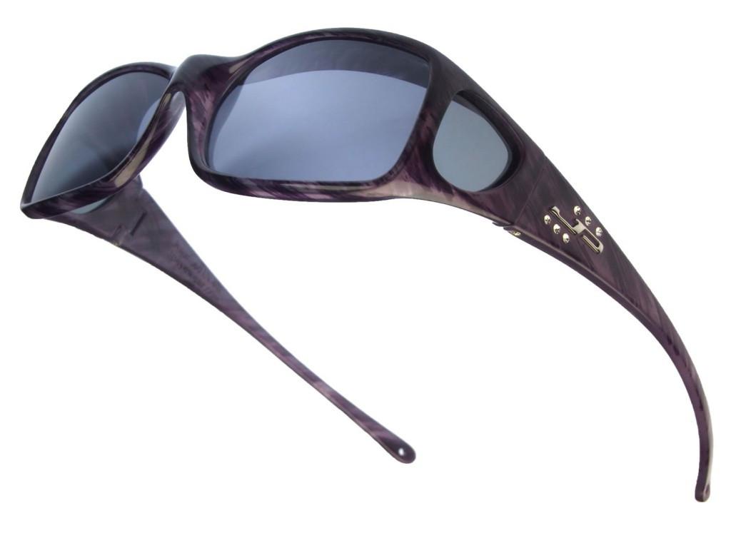 bfad6de172 Jonathan Paul® Fitovers Eyewear Large Aria in Purple-Heart   Gray AA006S -  Polarized World