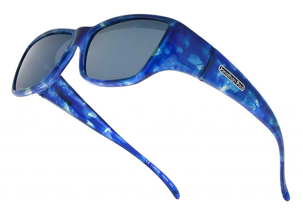 e5a2eb56f5 Jonathan Paul® Fitovers Eyewear Large Neera in Blue-Blast   Gray NR002 -  Polarized World