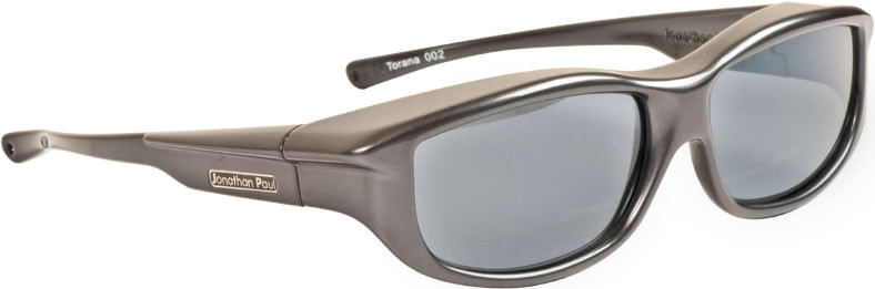 a83fcee468 Jonathan Paul® Fitovers Eyewear Large Torana in Dark-Charcoal   Gray ...