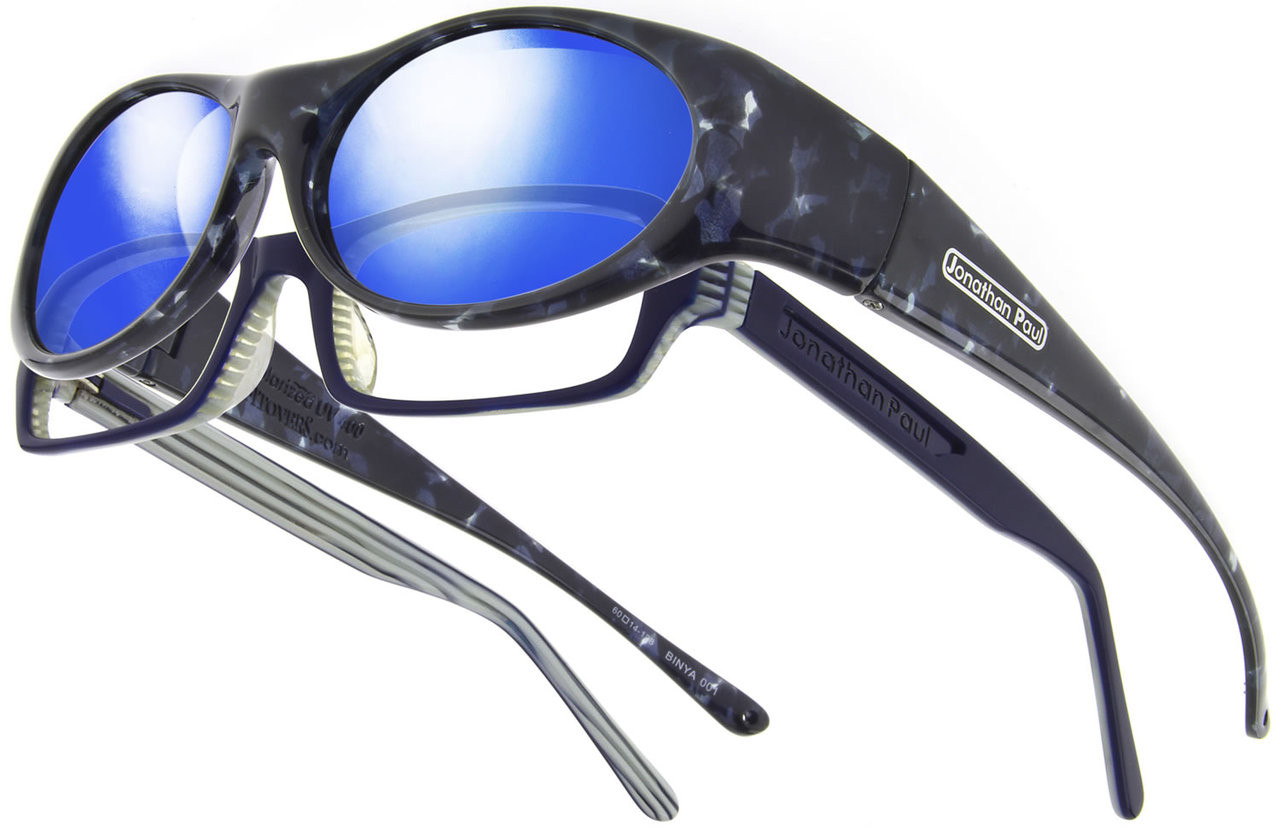 d804e5aad902 Jonathan Paul® Fitovers Eyewear Small Binya in Blue-Cloud   Blue Mirror  BN001BM - Polarized World