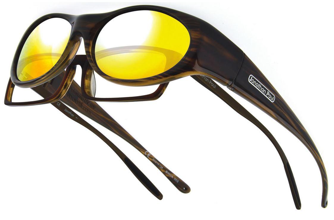 2e3ec4840cd4 Jonathan Paul® Fitovers Eyewear Small Binya in Brown-Feather   Gold Mirror  BN003YM - Polarized World