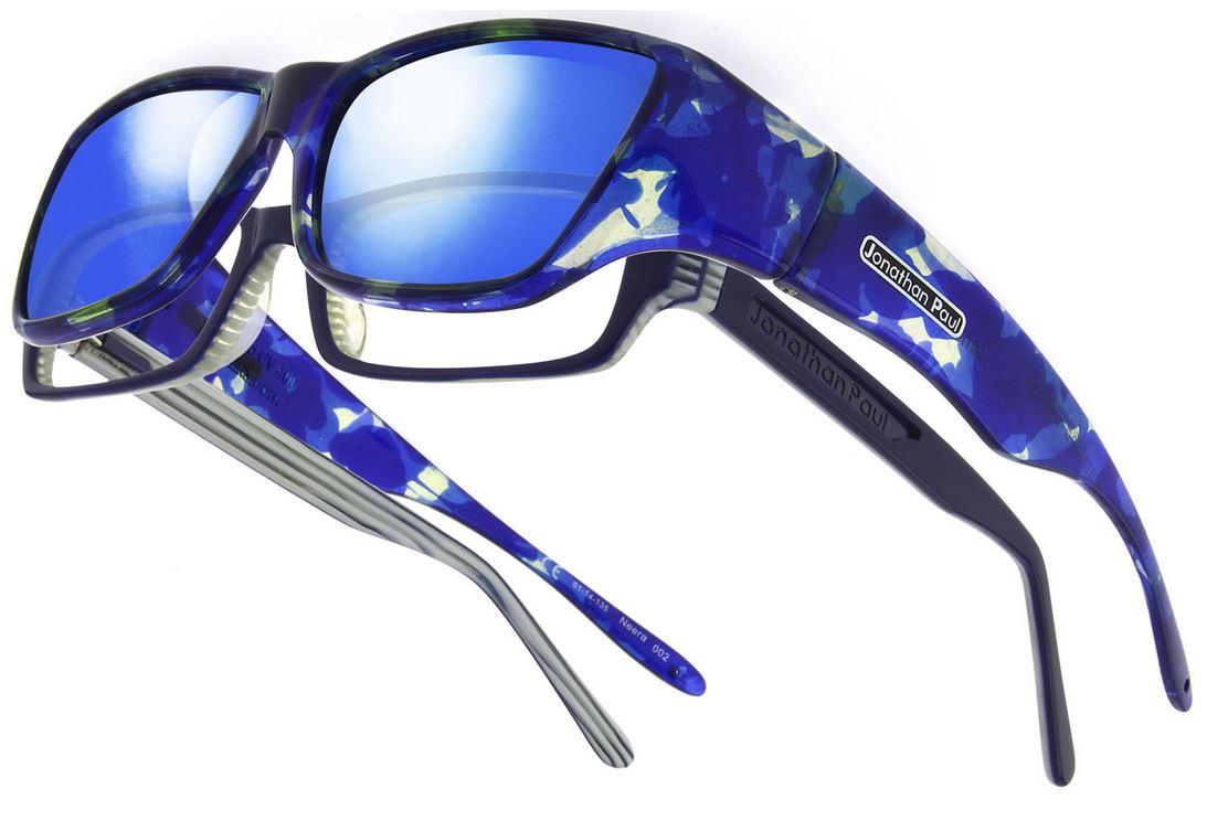 fe65915cc2e Jonathan Paul® Fitovers Eyewear Large Neera in Blue-Blast   Blue Mirror  NR002BM - Polarized World