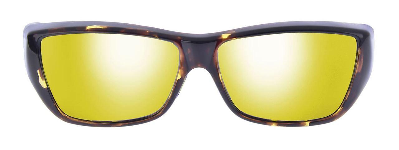 ccbeed1079c Jonathan Paul® Fitovers Eyewear Large Neera in Leopard-Black   Gold Mirror  NR003YM - Polarized World