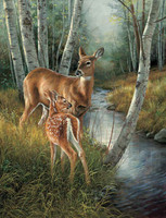 Deer Hunting Theme 240-34a-4 Artwork Micro Fiber Cleaning Cloth