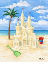 Beach Sand Castle 240-10d-3 Artwork Micro Fiber Cleaning Cloth