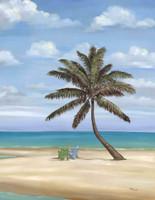 Beach Chair & Tree 240-10d-5 Artwork Micro Fiber Cleaning Cloth