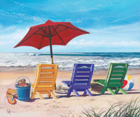 Beach Chairs & Umbrella 240-75b-2 Artwork Micro Fiber Cleaning Cloth