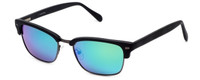 Calabria Viv Sunglass Collection 791S in Matte-Black & Polarized Green Mirror