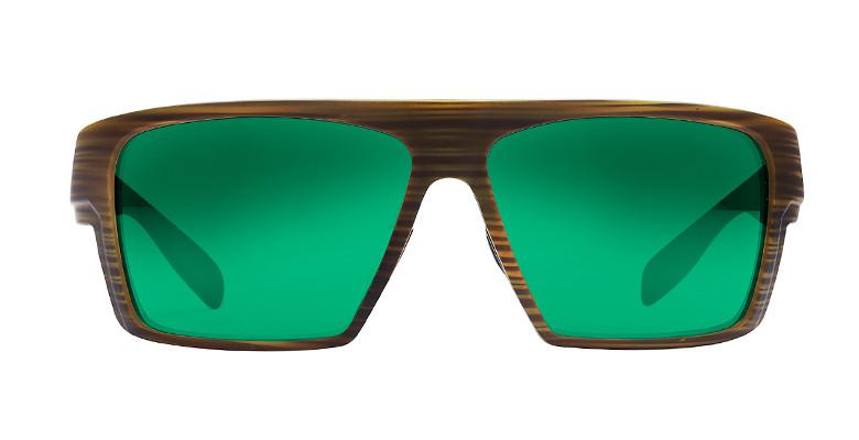 25025c79463 Native Eyewear Polarized Sunglasses  Eldo in Wood   Black with Green Reflex  Lens - Polarized World