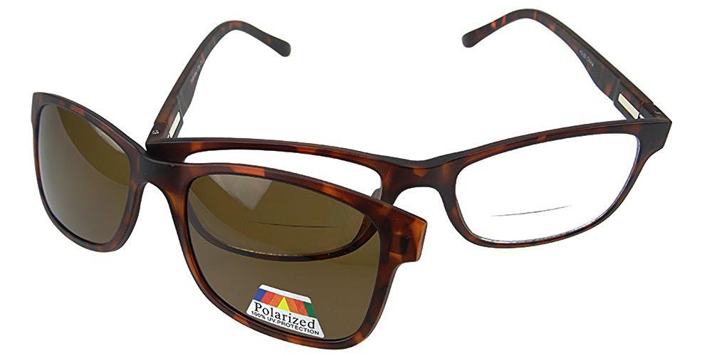 9fd3ea00b4c3 Bifocal Reading Glasses with Magentic Polarized Clip-On - Polarized World