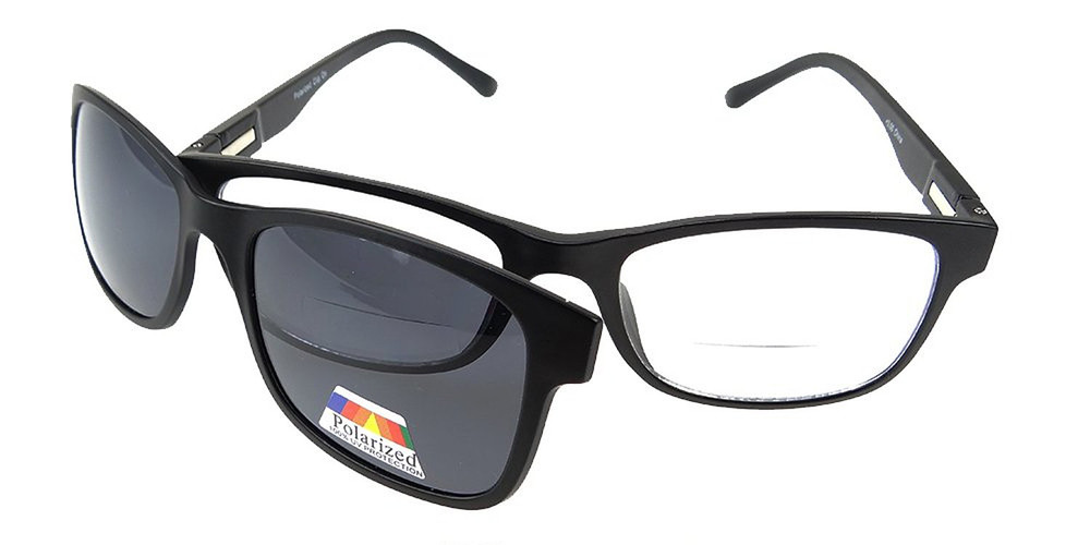 dd5293f300bc Bifocal Reading Glasses with Magentic Polarized Clip-On - Polarized ...