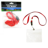 SE Fishing License I.D. Holder in Red