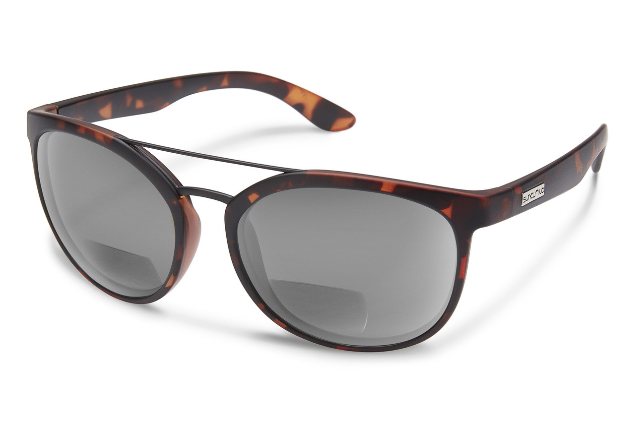 Suncloud Skyline Polarized Bi-Focal Reading Sunglasses in Tortoise with Brown Lens 3.00