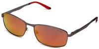 Carrera CA8012/S Designer Sunglasses in Matte Dark Ruthenium & Polarized Red Mirror Lens