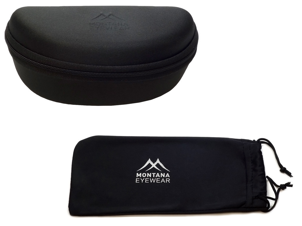 Included Montana Zippered Hard Case & Microfiber Pouch