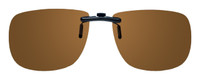 Montana Eyewear Clip-On Sunglasses C2B in Polarized Amber 54mm