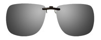 Montana Eyewear Clip-On Sunglasses C13 in Polarized Silver Mirror/Grey 62mm