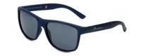 Montana Eyewear Designer Polarized Sunglasses MS312A in Matte-Blue & Grey Lens
