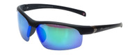 Montana Eyewear Designer Polarized Sunglasses SP302B in Matte-Black & Green Mirror Lens