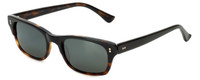 Reptile Designer Polarized Sunglasses Agamid in Black-Tortoise with Flash Mirror Lens