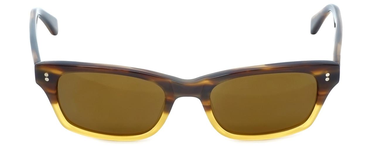 8a9423bd833 Reptile Designer Polarized Sunglasses Agamid in Brown-Stripe-Fade with  Flash Mirror Lens - Polarized World