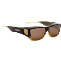 Jonathan Paul® Fitovers Eyewear Large Traveler in Brown Tan Ombre & Amber TL004A